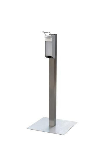 CleanGood RVS desinfectiezuil met elleboog desinfectie dispenser