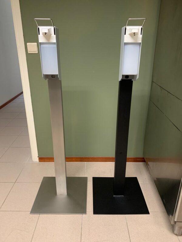 CleanGood industriële staal desinfectiezuil met elleboog desinfectie dispenser 3